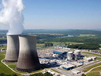 Aerial photograph of Watts Bar Nuclear power plant