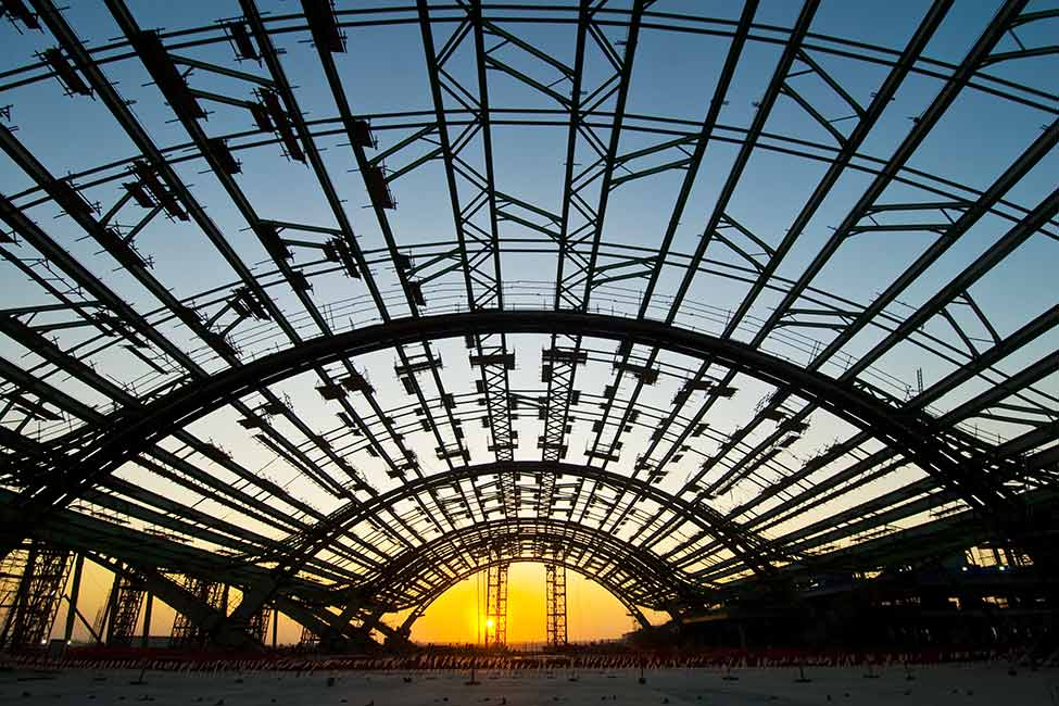 Hamad Airport terminal construction
