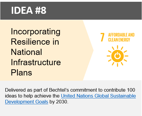 Incorporating Resilience in National Infrastructure Plans