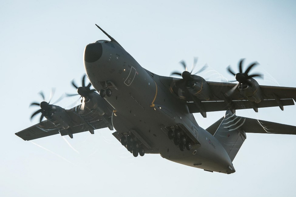 An Airbus A400M Atlas transport plane