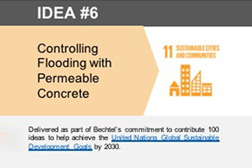 Controlling Flooding with Permeable Concrete