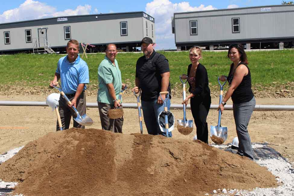 The groundbreaking ceremony at Carroll County