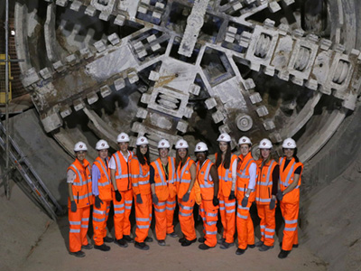 Workers at Crossrail
