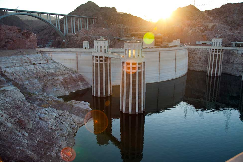 Hoover Dam attracts more than one million visitors each year