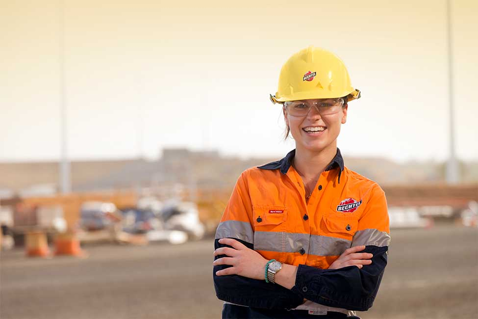 One of the thousands of workers who helped build Australia's largest greenfield coal complex