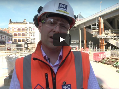 Andy Scholes, site manager for Farringdon Station