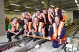 Members of the project team who helped modernize three lines of London's Underground