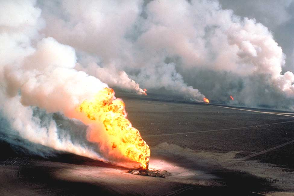 Following the Gulf War, Bechtel and an international team capped 650 damaged or burning oil wells in Kuwait
