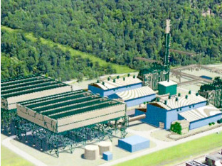 An artist's rendering of the Renovo plant