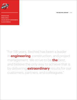 Annual Report Of Business Performance & Highlights - Bechtel