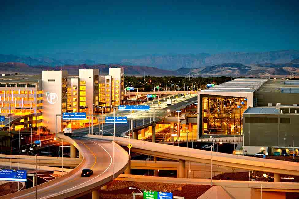 A view of the $2.4 billion Terminal 3, the largest expansion effort undertaken at McCarran