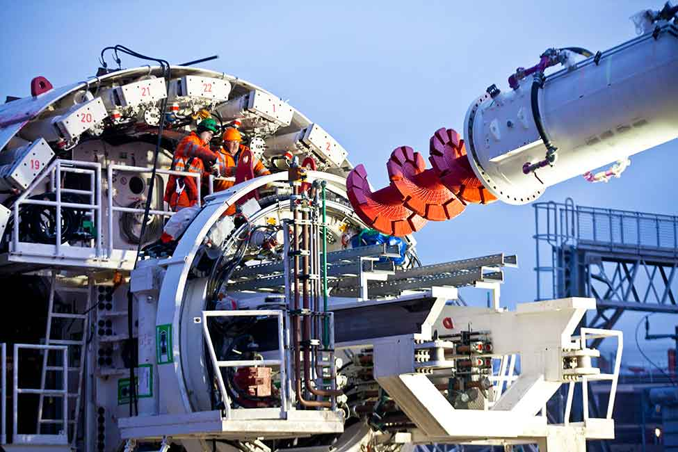 One of Crossrail's tunnel-boring machines