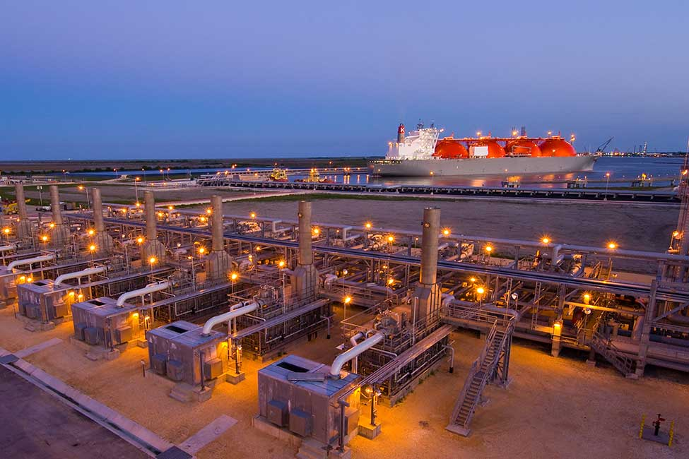 The vaporizers at Sabine Pass, which have regasification capacity of approximately 4 billion cubic feet (roughly 113 million cubic meters) per day