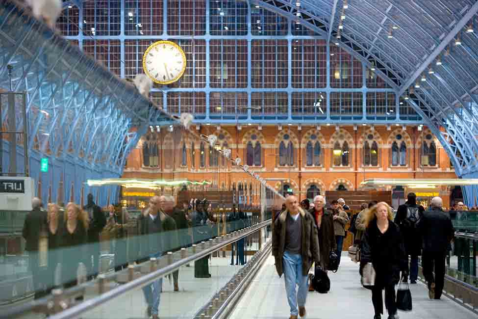 The Barlow train shed at the renovated St Pancras International Station