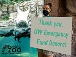 The $40,000 gift to the United Way of Pueblo County's Emergency Response and Recovery Fund helped feed 400+ animals when the pandemic closed the Pueblo Zoo for three months.