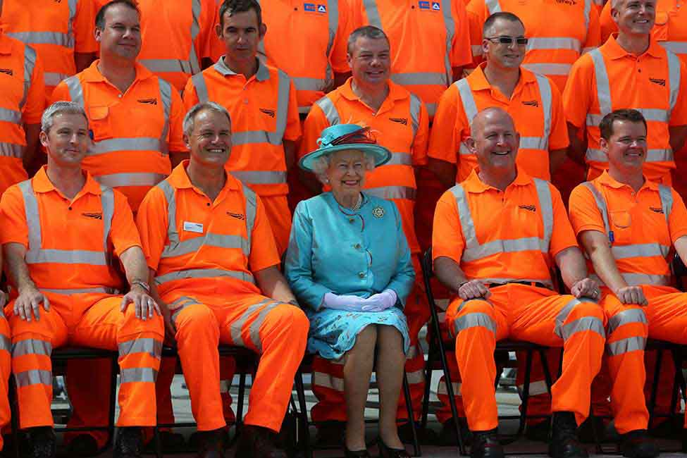 Queen Elizabeth at the Reading Station opening ceremony