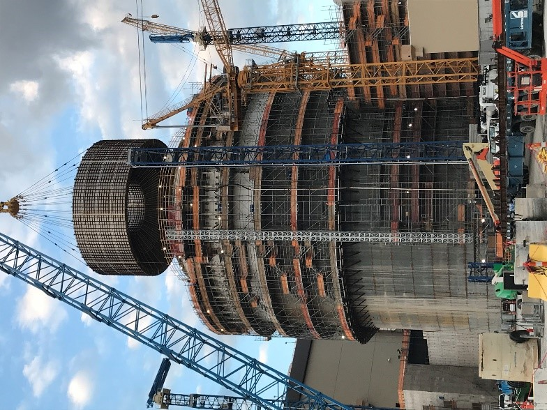 Image of CB20 being set on Unit 3 at Plant Vogtle in Waynesboro, Georgia.