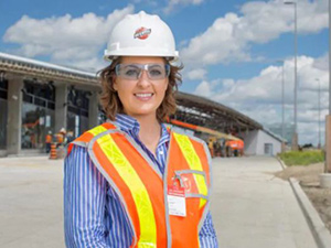 On track: railway engineer Hannah Stotter