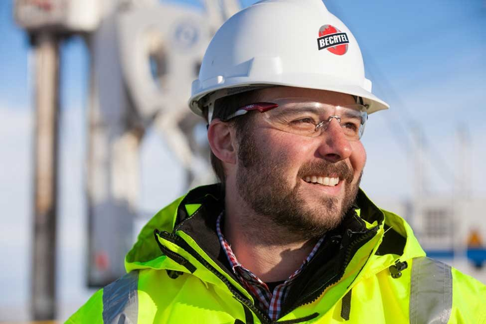 Bechtel worker at Hanna region