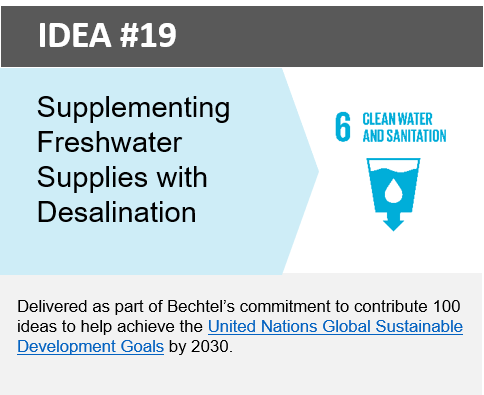 Supplementing freshwater supplies through desalination