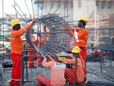 Construction Workers at Muscat Airport