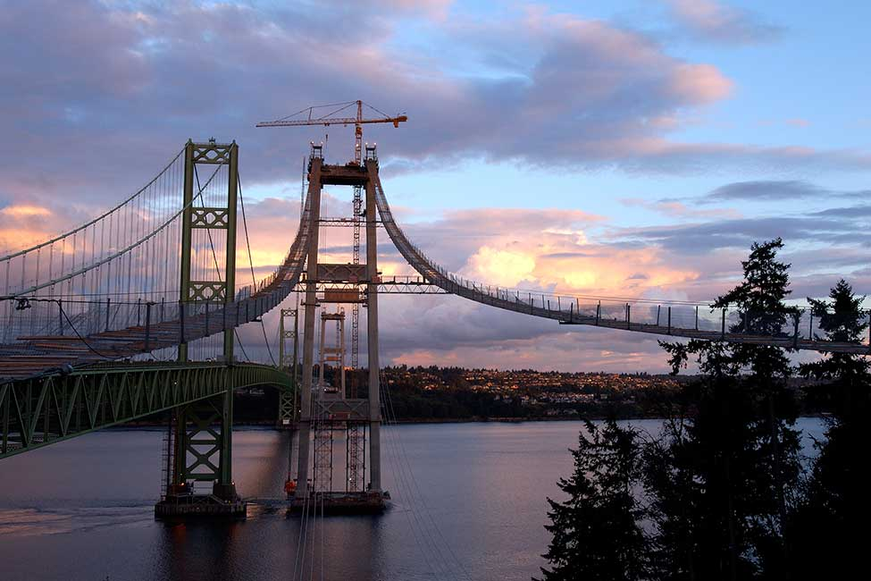 Completed in 2007, Tacoma Narrows was the longest US suspension bridge built in four decades