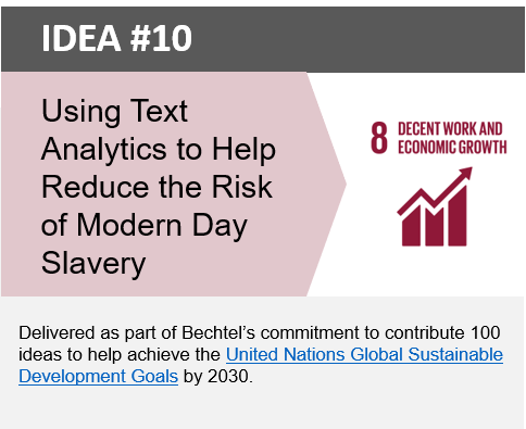 Image representing Using Text Analytics to Help Reduce the Risk of Modern Day Slavery