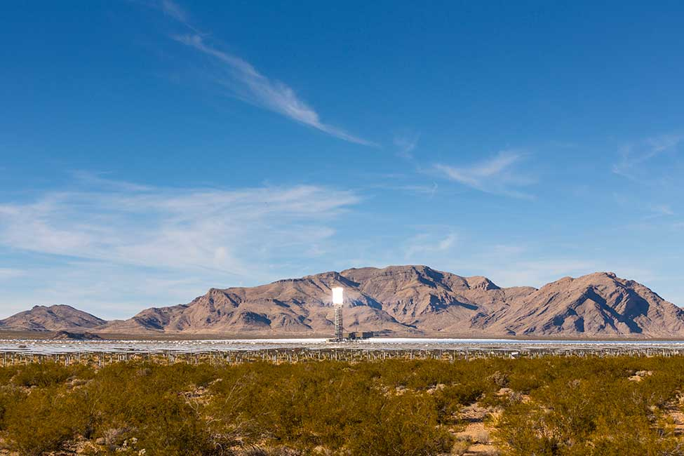 The project is located on 3,500 acres (14.2 km2) of public land in California's Mojave Desert