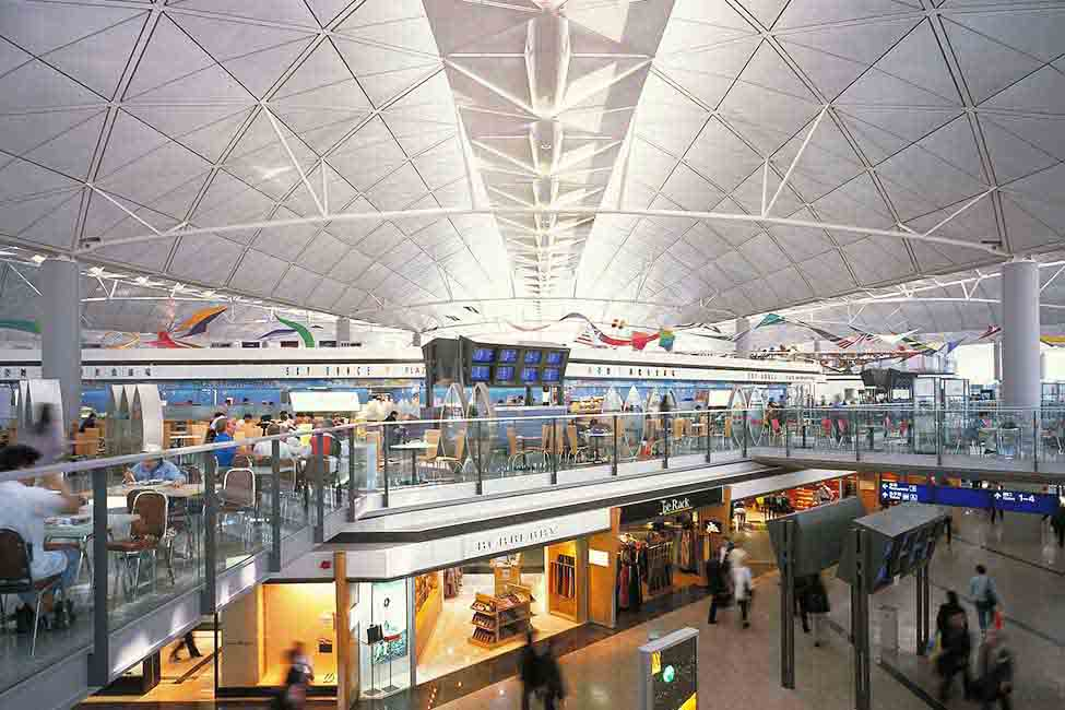 The new airport was initially capable of handling 35 million passengers per year