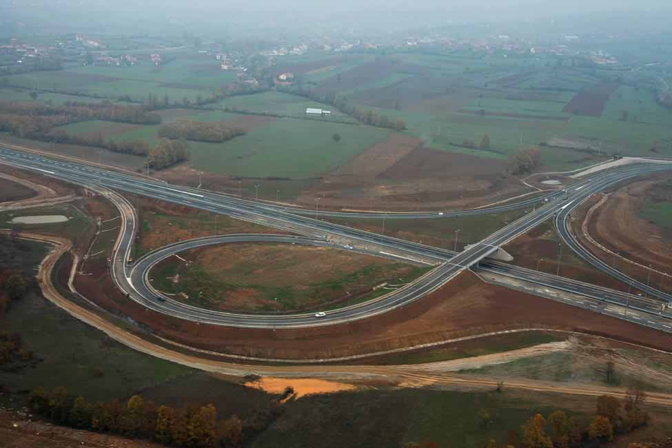 The motorway also includes 22 overpasses and underpasses