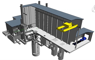 diagram of versatile test reactor