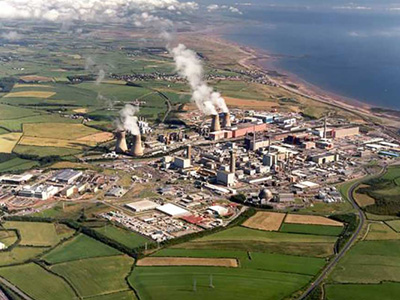 Sellafield nuclear site arial view