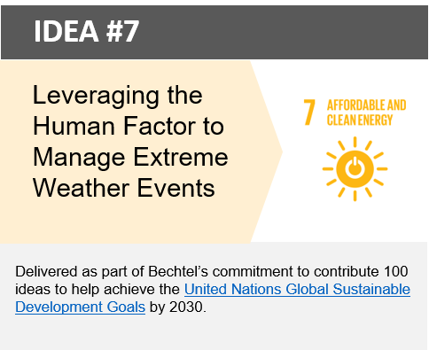 Leveraging the Human Factor to Manage Extreme Weather Events