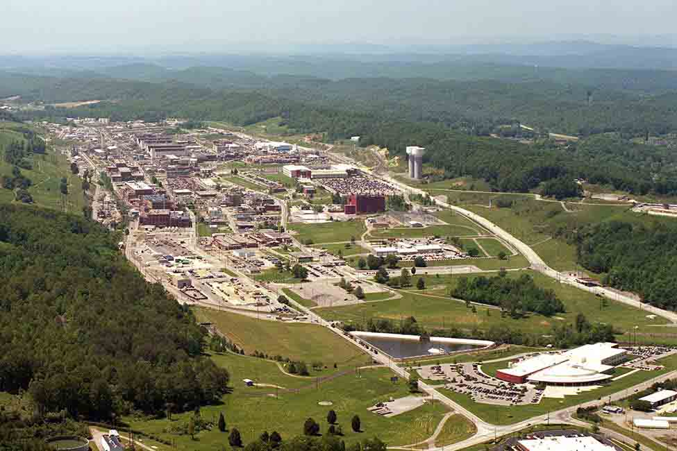 An aerial view of the Y-12 facility