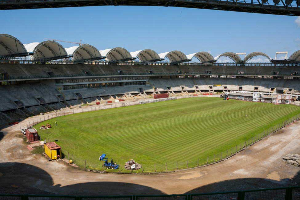 Two stadiums, hotels and roads were ready in time for the 2012 Africa Cup of Nations