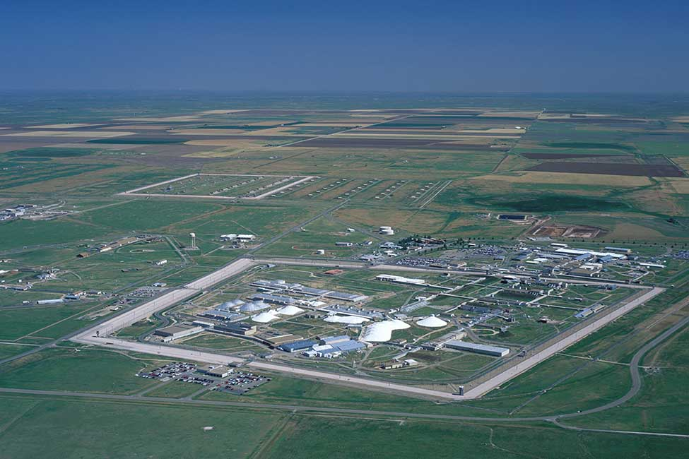 An aerial view of the Pantex facility