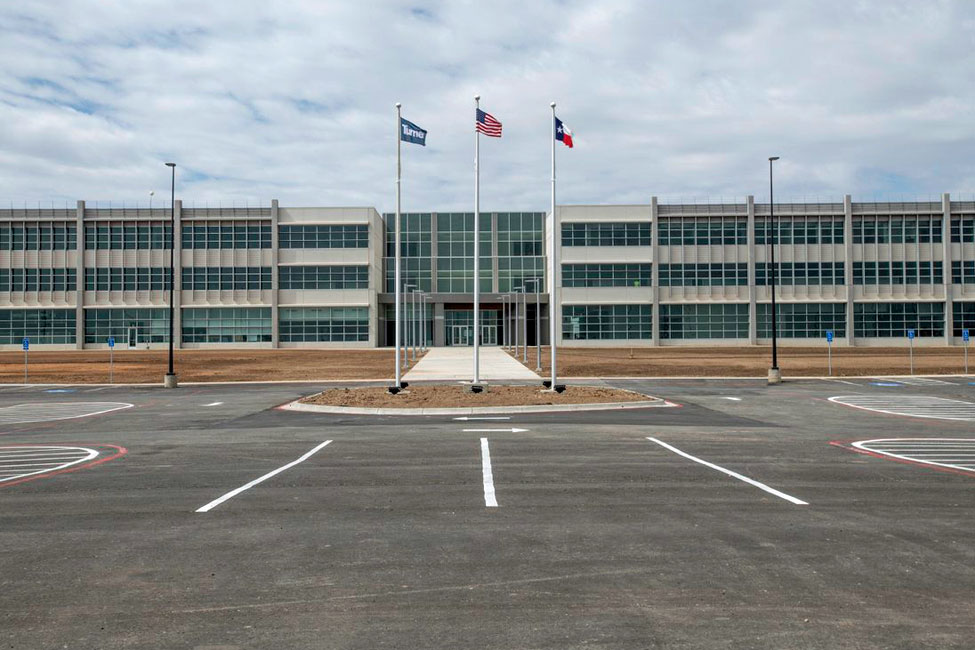 The completed Pantex Administrative Support Complex replaces Cold War-era facilities with an efficient, modern office building.