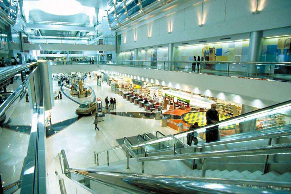 A view of the expanded airport's duty free area