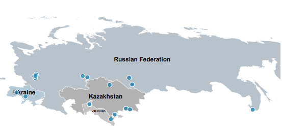 Bechtel's Russian Projects Map