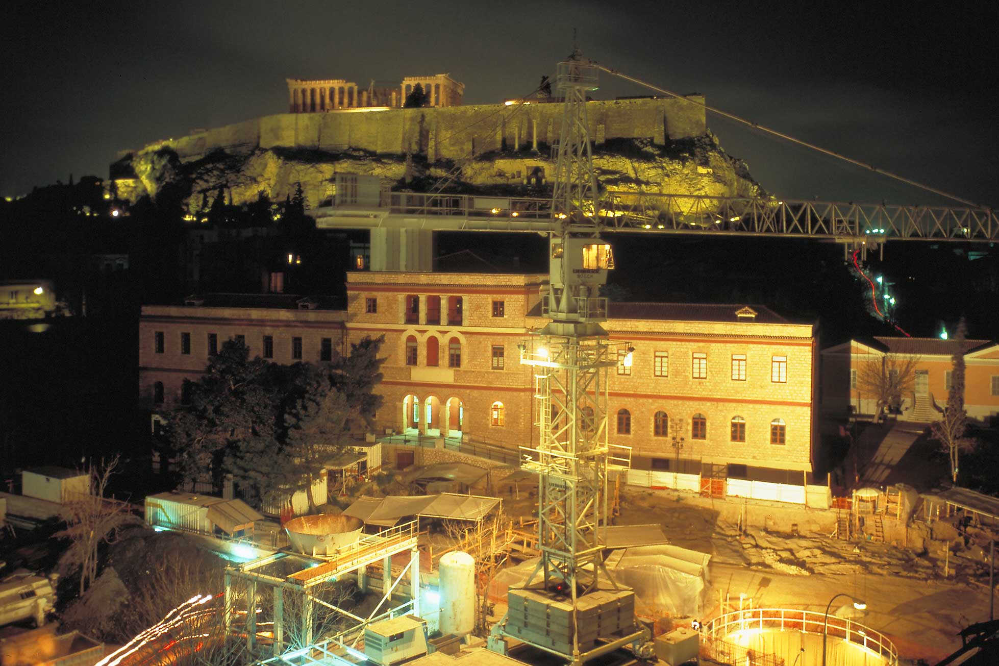 Athens Metro construction site