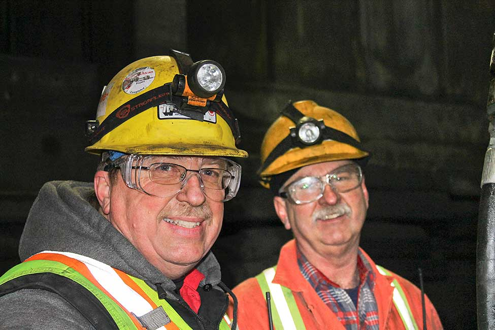 Members of the Kitimat demolition crew