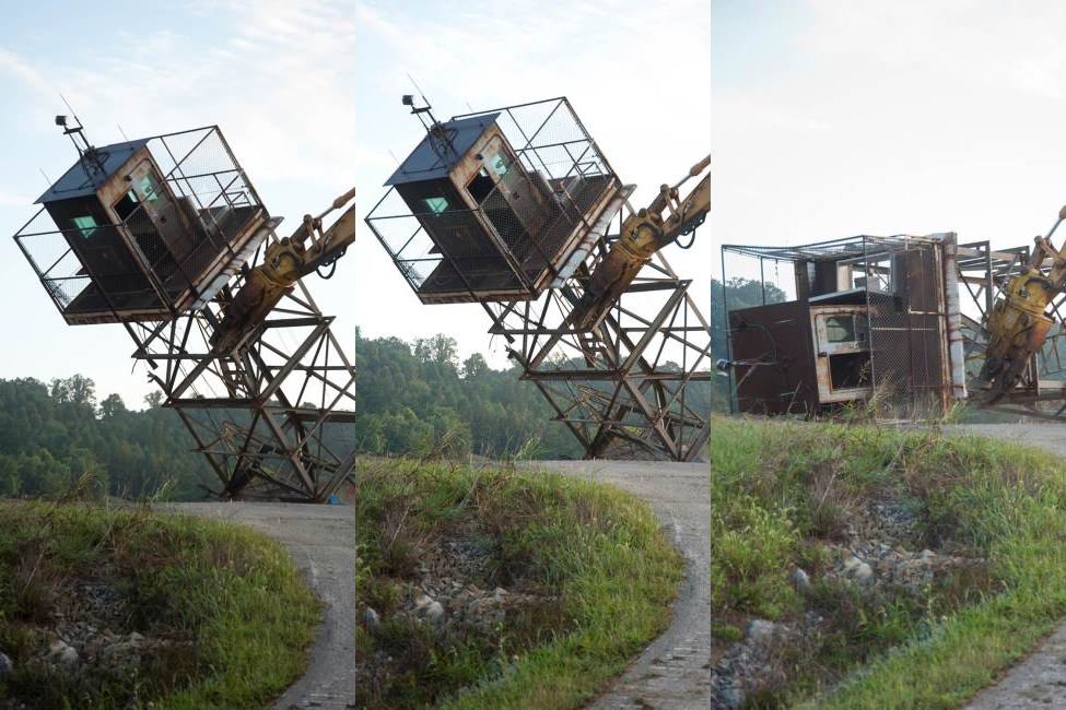 Demolition of a guard tower