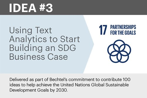 Using Text Analytics to Start Building an SDG Business Case