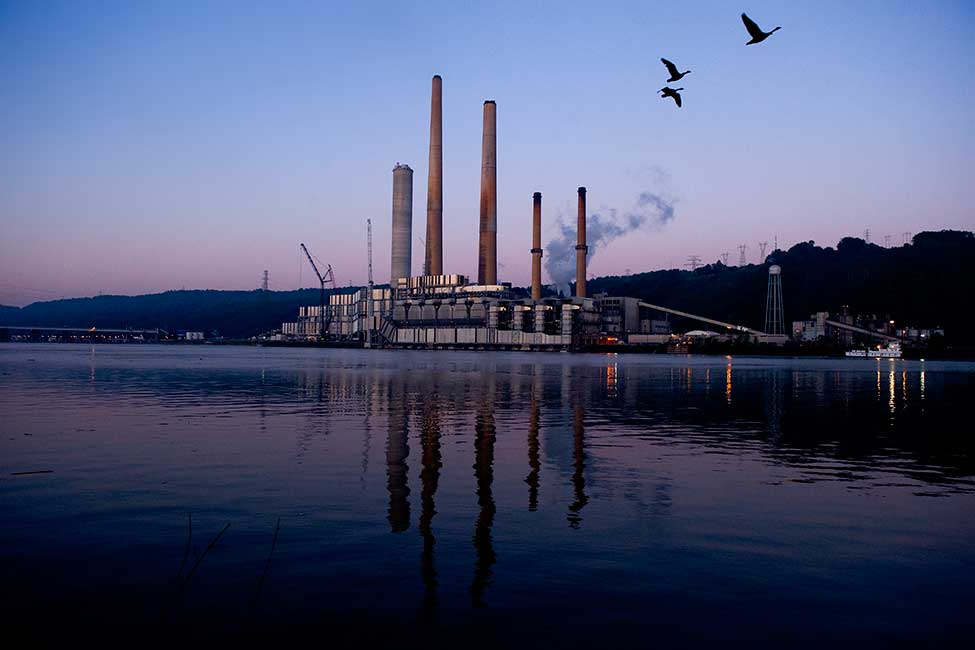 The Sammis Power Plant as seen from the Ohio River