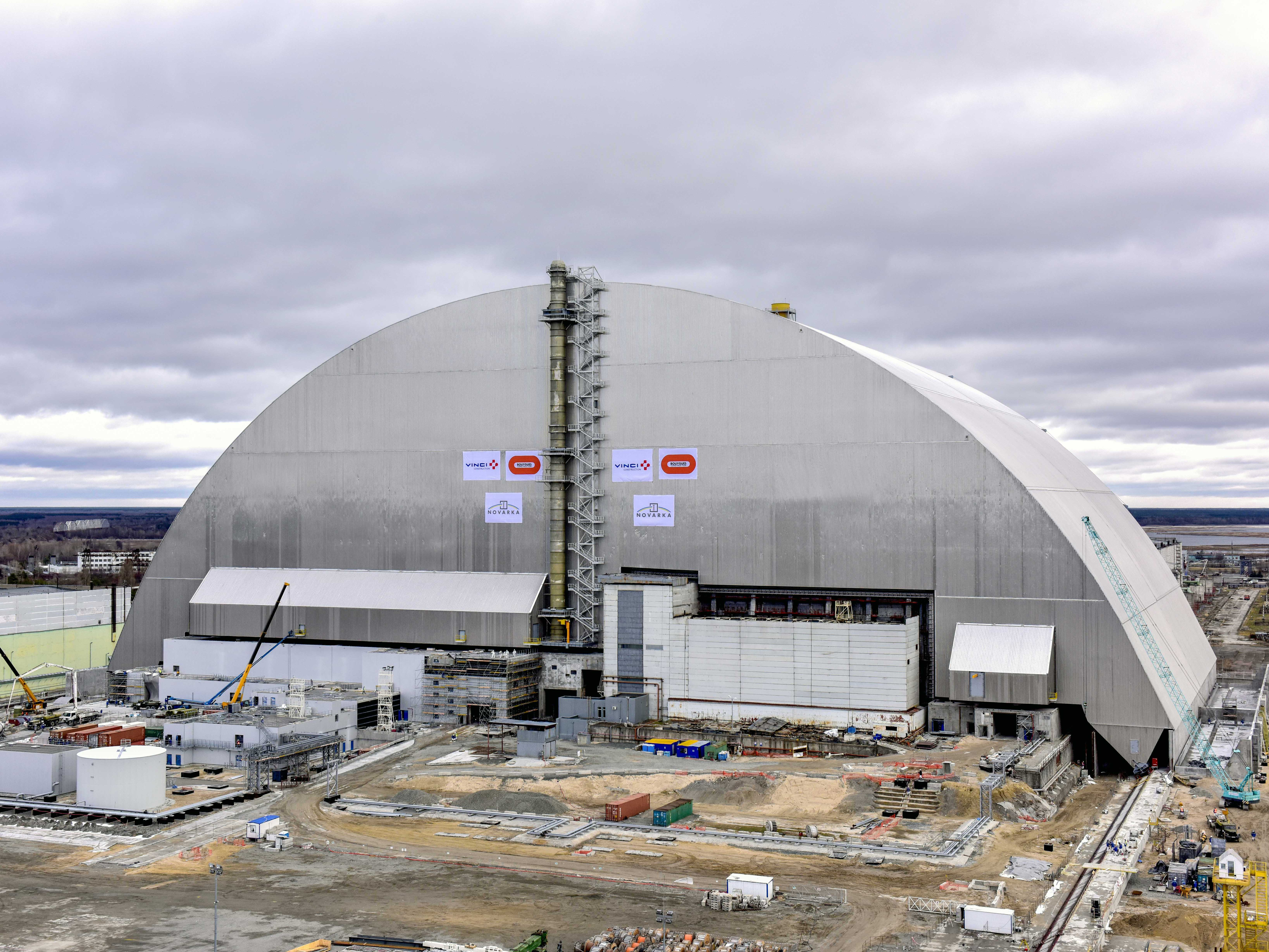 The New Safe Confinement arch now rests above the damaged reactor building, protecting it from the elements and sealing in radioactive contamination. Photo: European Bank for Reconstruction and Development