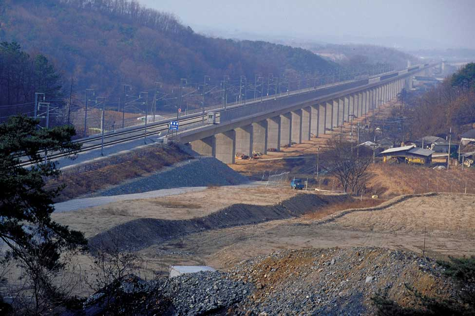 The rail line corridor, which runs between Seoul and Busan, is home to 70 percent of the nation's population
