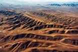 An aerial view of Yucca Mountain, which is located approximately 100 miles (160 kilometers) northwest of Las Vegas