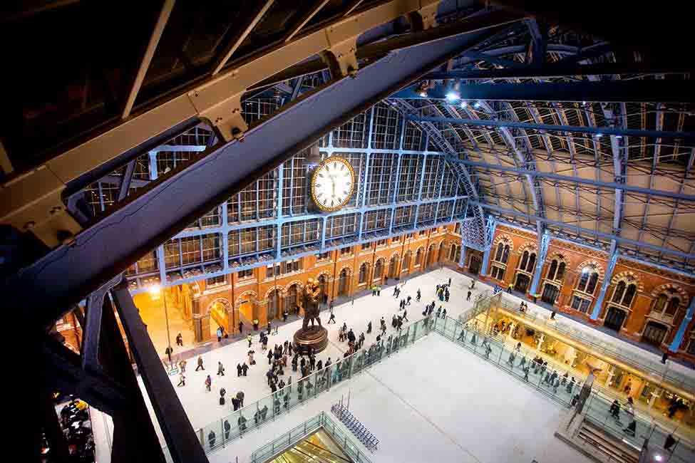 Renovating St Pancras, a building of historic interest, required delicate reconstruction, cleaning, partial demolitions, and rebuilding from scratch using original plans