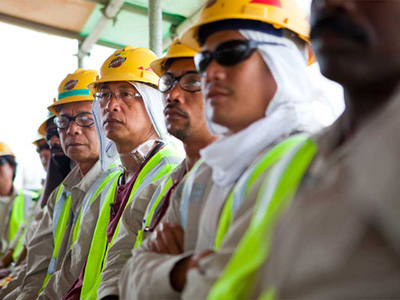 Angola LNG Construction Workers