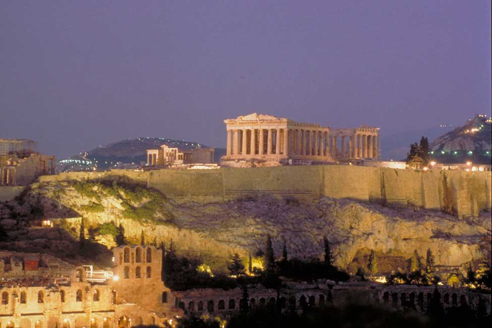 The Acropolis, one of the ancient sites Bechtel's team had to help preserve while also advancing the metro